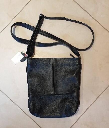 Leather Crossbody Bag Black