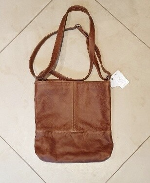 Leather Crossbody Bag Tan