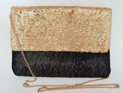 Embellished Evening Bag Gold Black
