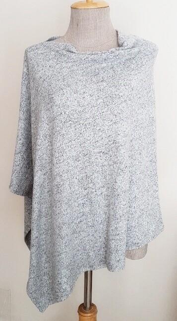 Poncho - Silver Grey