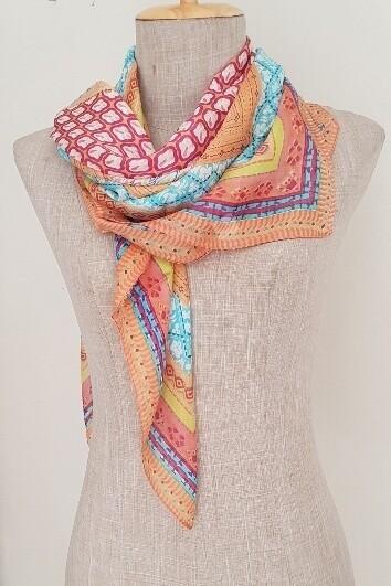 Silk Scarves - Designer Coral