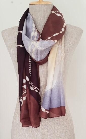 Silk Scarves - Winter Brown