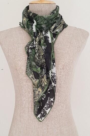 Silk Scarves - Winter Green