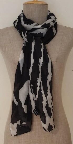 Silk Scarves - Animal Black