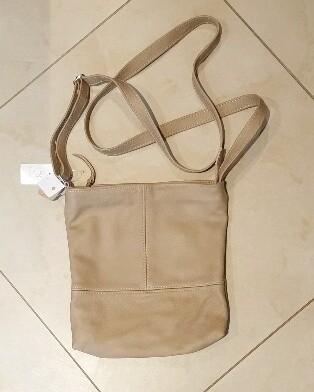 Leather Crossbody Bag Stone