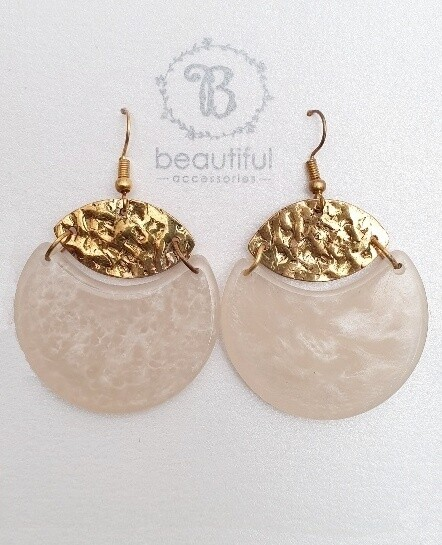 Neutral Circle Earrings