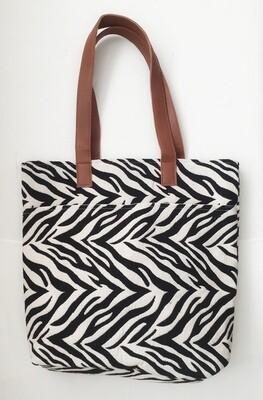 Canvas Tote Zebra