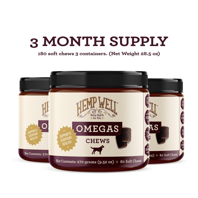 Hemp Omegas Soft Chews - 3 Month Supply