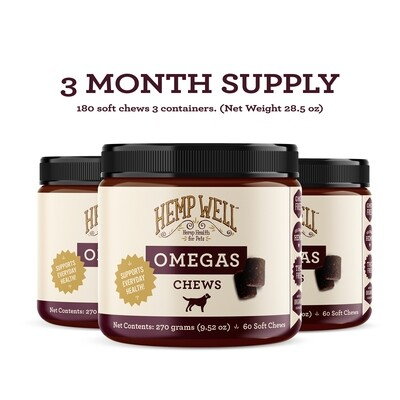 Hemp Omegas Soft Chews - 3 Month Supply