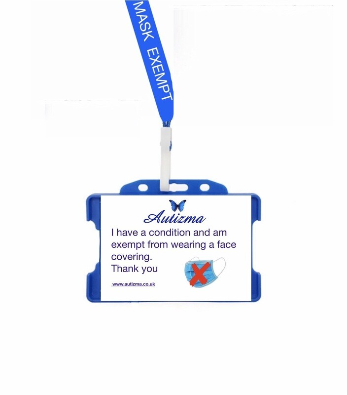 Face Covering Exemption Lanyard and Card