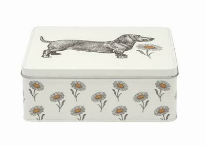 Alice Scott Sausage Dog and Daisy Tin