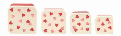 Emma Bridgewater Heart Snack tubs (4)