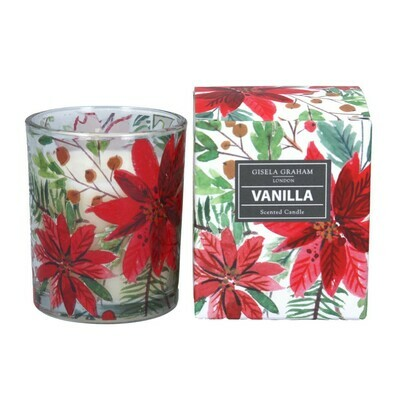 Gisela Graham Poinsetta (vanilla) Scented Candle (20 hours)