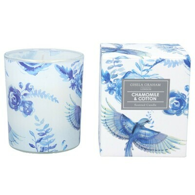 Gisela Graham Bluebirds & Roses Scented Candle (40 hours)
