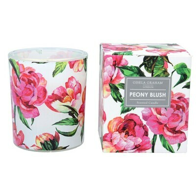 Gisela Graham Peony Blush Scented Candle (40 hours)