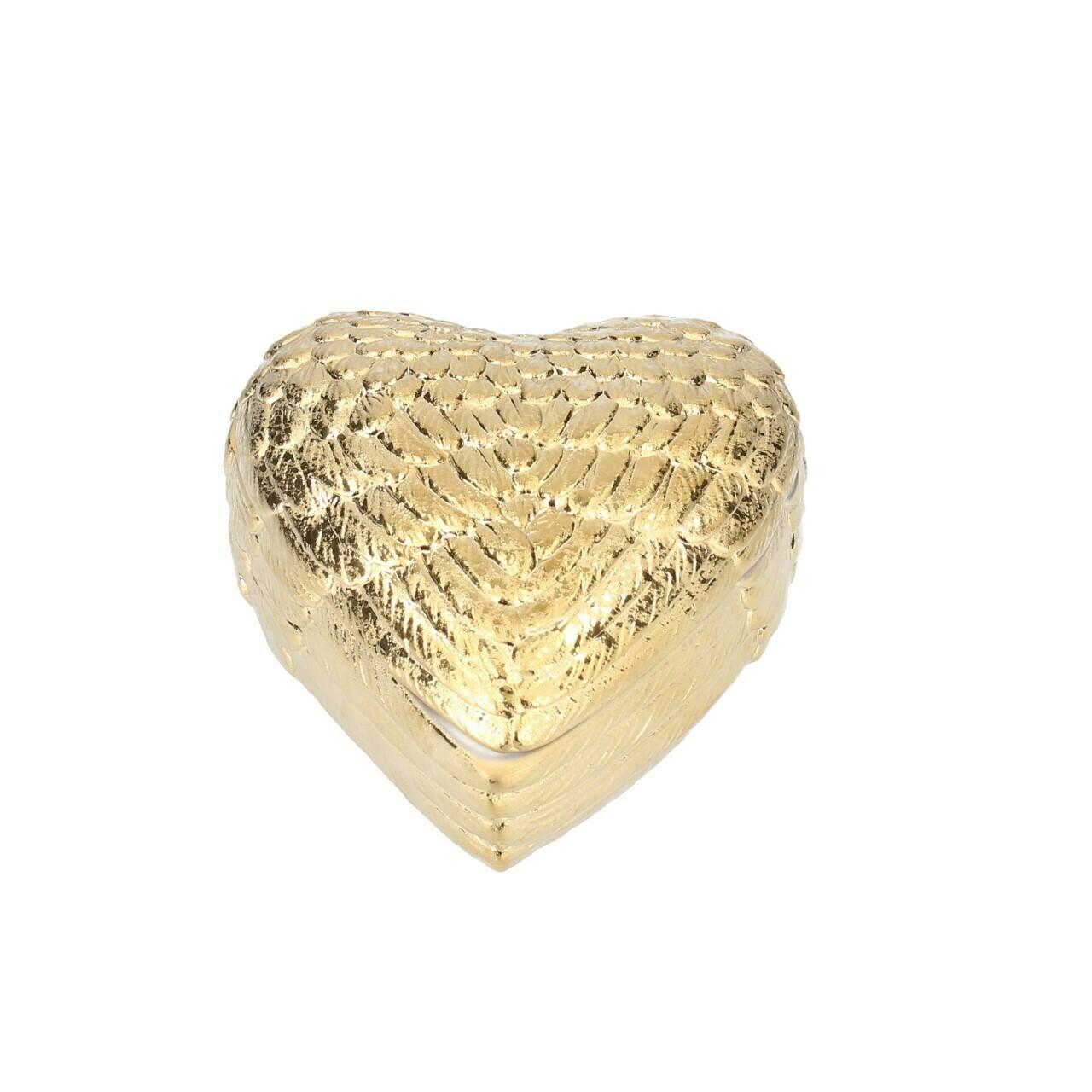 Gisela Graham Golden Wings Heart Trinket Box