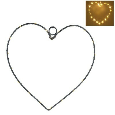 Gisela Graham LED Wire Heart (20cm)