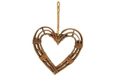 Gisela Graham Willow Heart Wreath