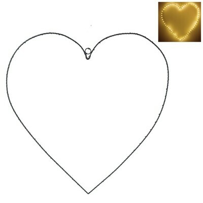 Gisela Graham LED Wire Heart (50cm)