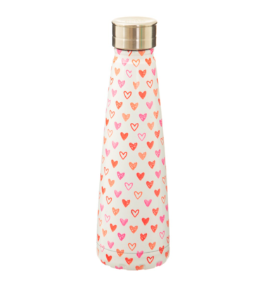 Sass & Belle Red Love Hearts Water Bottle