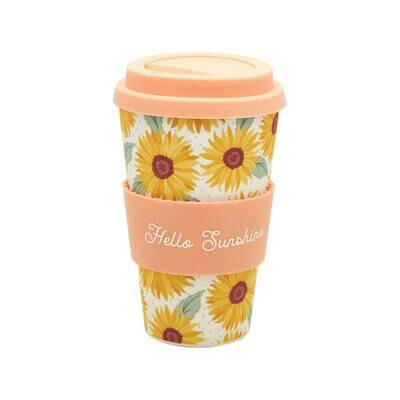 Sass & Belle Sunflower Design Bamboo Coffee Cup
