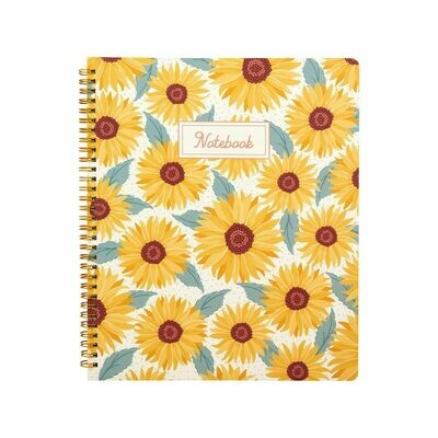 Sasse & Belle Sunflower Design A4 Notebook