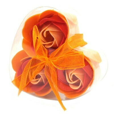9 ​Luxury Soap Flower Roses - 3 Peach, 3 Pink and 3 White.​