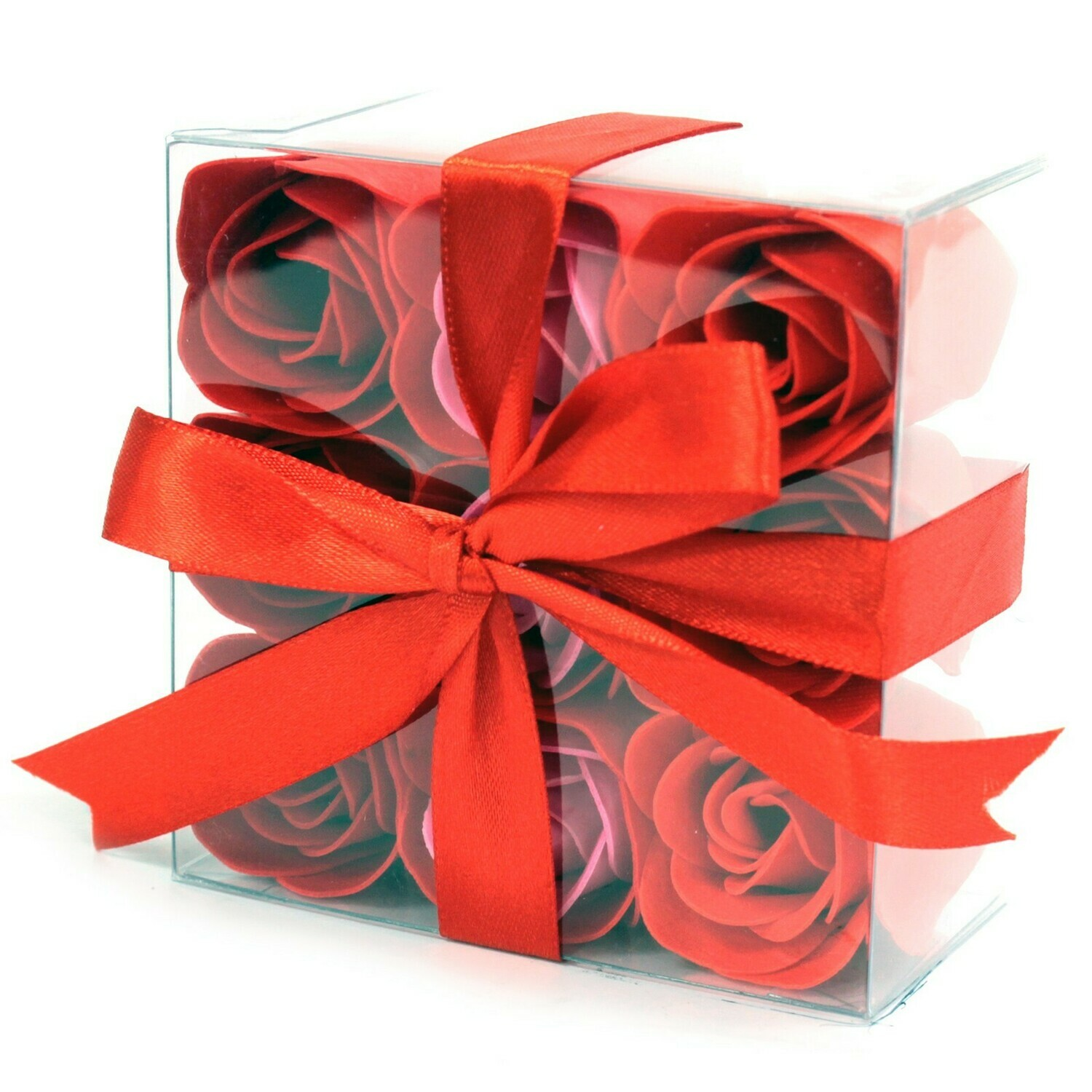 18 Luxury Soap Roses - 9 Lavender and 9 Red