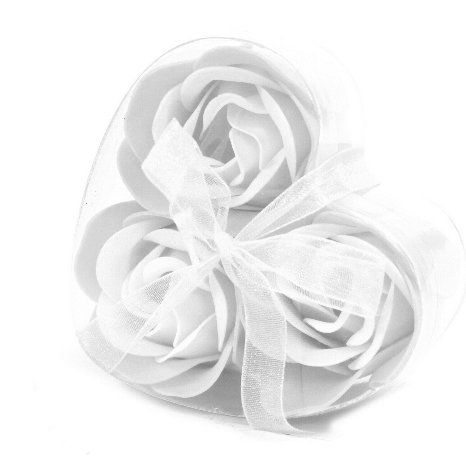6 Luxury Soap Roses - 3 Lavender and 3 White