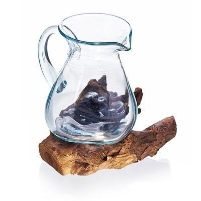 Molten Glass on Wood - Water Jug