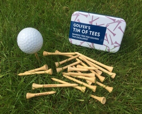 GIFT IN A TIN: Golfer's Tin of Tees