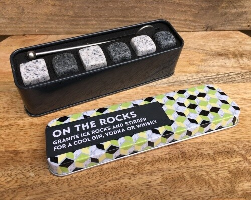 """GIFT IN A TIN Granite Ice Cubes """"On the Rocks"""""""