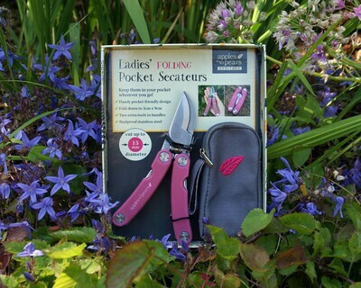 Folding Secateurs in a stunning Bright Pink!