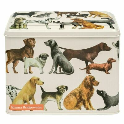 DOG TREAT TIN Extra Large Rectangular Hinged Metal Caddy