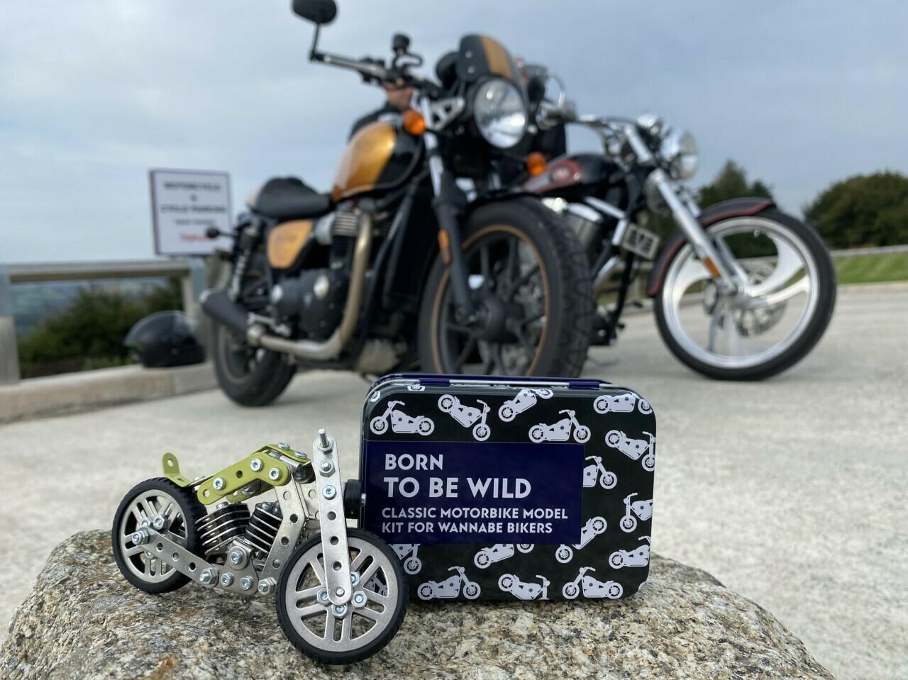 Build your own Retro Style Motorbike Kit.