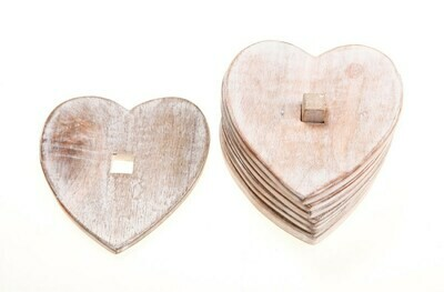 Heart Shaped Mango Wood Coasters.