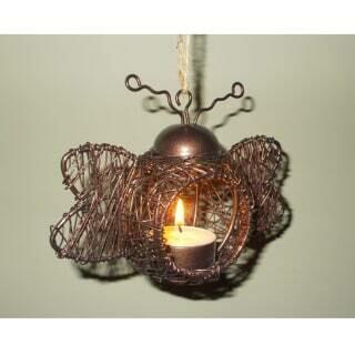 Bumble Bee Tea Light Holder- Ornamental Wirework