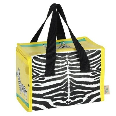 Insulated Zebra Design Lunch Bag