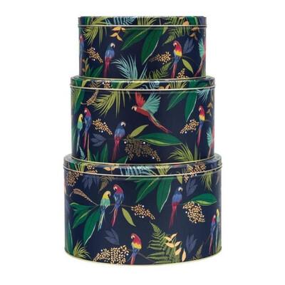 Sarah Miller Parrot Design Cake Tins (3)