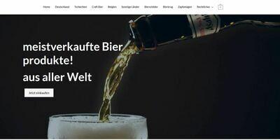 Webshop über Bierprodukte - Affiliate Webseite - 714 Produkte