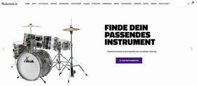 Webshop für Musikinstrumente und Zubehör - 1206 Instrumente online