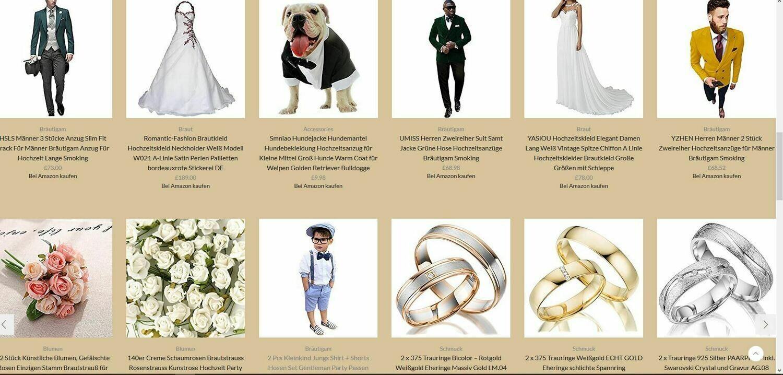 hochzeit shop mit 974 artikel online - wordpress amazon
