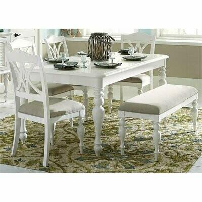 Set Meja Makan Duco Cat Putih 5 Kursi Dan Bangku