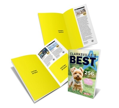 Clarksvilles Best Winner's Magazine | Half/Full/Takeover Page |  Category Adjacent | Early Bird Rate