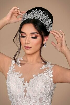 BLISSE Luxurious Swarovski Bridal Headpiece, Headband