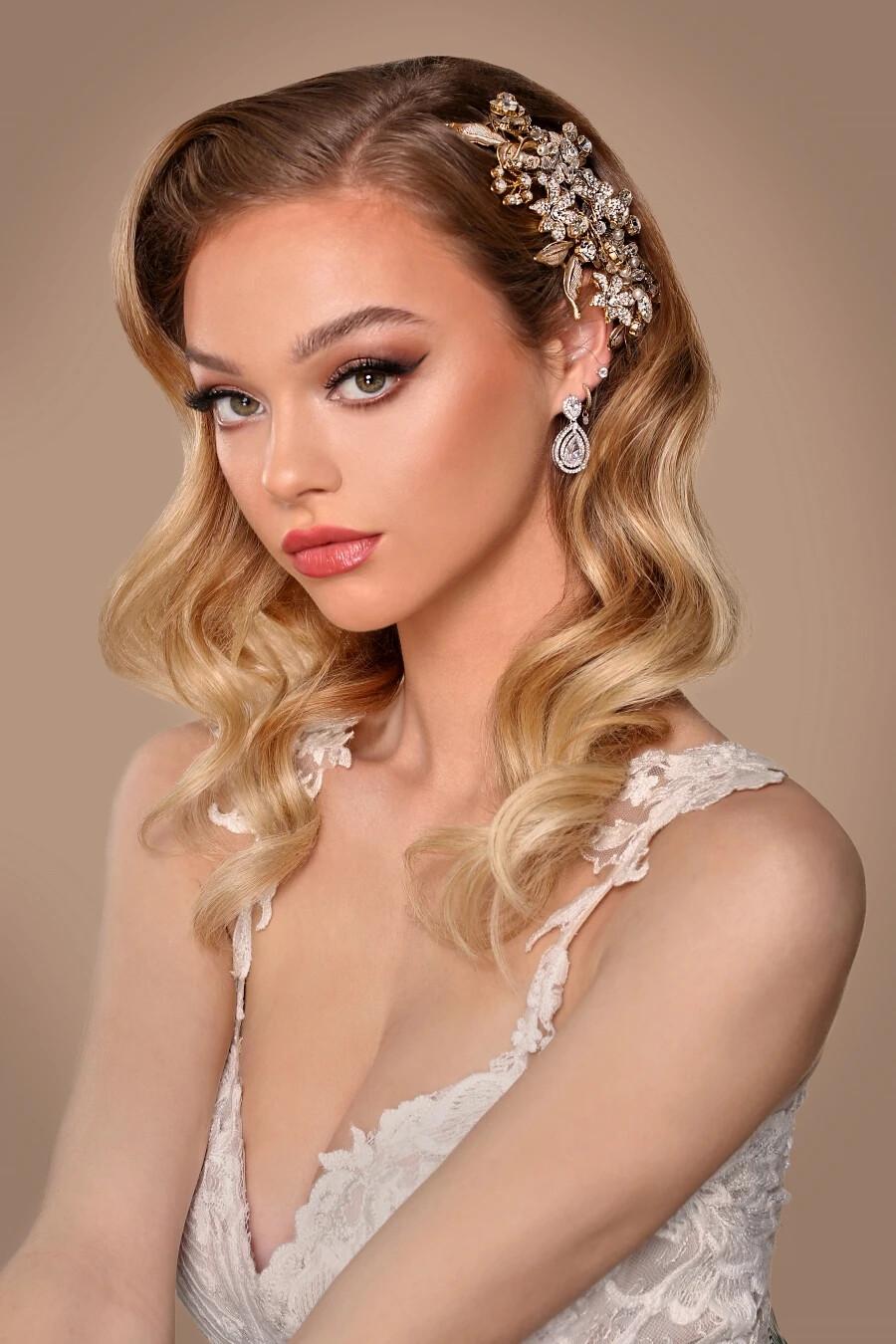 LDYIE Swarovski Hair Comb, Wedding Headpiece