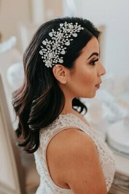 AMOUR Swarovski Hair Comb, Wedding Headpiece