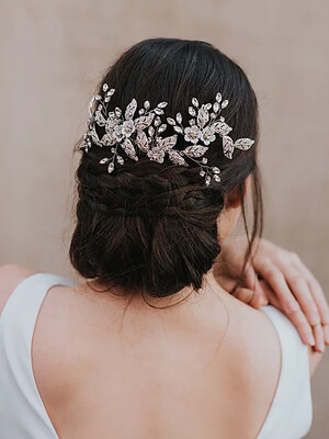 """Constance"" Large Bridal Headpiece"