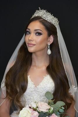 ELISABETTA Swarovski Wedding Tiara, 3D Bridal Tiara