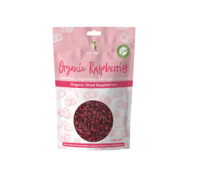 Organic Dried Raspberries